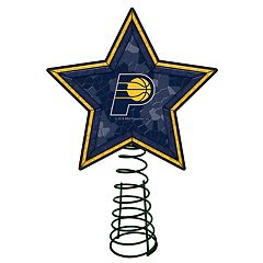 Indiana Pacers Mosaic Christmas Tree Topper
