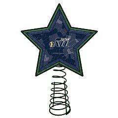 Utah Jazz Mosaic Christmas Tree Topper