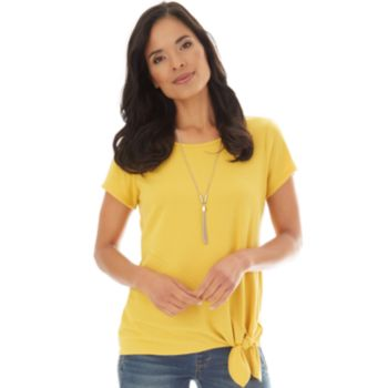 Ribbed Side-Knot Top