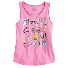 Girls 7-16 & Plus Size SO® Graphic Tank