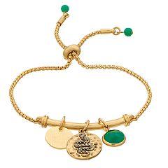 18 BIRCH MRKT Simulated Stone Bead Charm Adjustable Bracelet