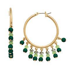 18 BIRCH MRKT Bead Charm Detail Click-It Hoop Earrings