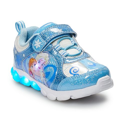 a8ab14edc5be Disney s Frozen Anna   Elsa Toddler Girls  Light Up Sneakers