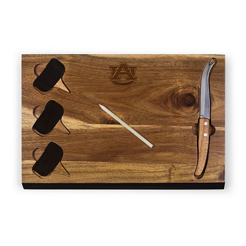 Picnic Time Auburn Tigers Delio Cheese Cutting Board Set