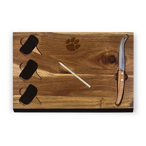 Picnic Time Clemson Tigers Delio Cheese Cutting Board Set