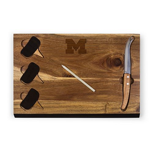 Picnic Time Michigan Wolverines Delio Cheese Cutting Board Set