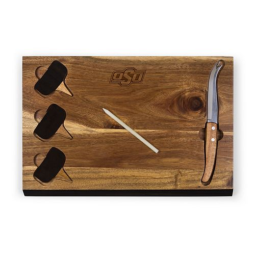 Picnic Time Oklahoma State Cowboys Delio Cheese Cutting Board Set