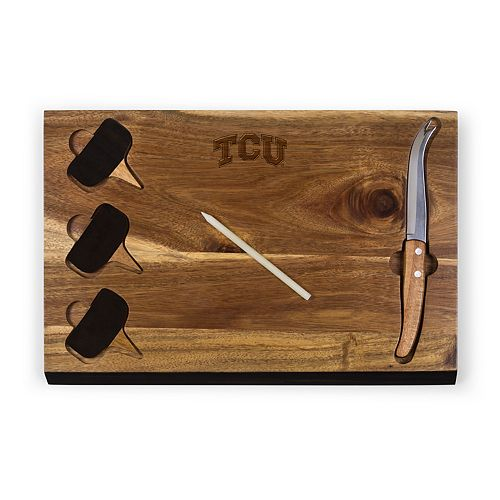 Picnic Time TCU Horned Frogs Delio Cheese Cutting Board Set