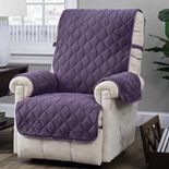 Jeffrey Home Solid Logan Micro Velvet Plush Recliner Furniture Cover