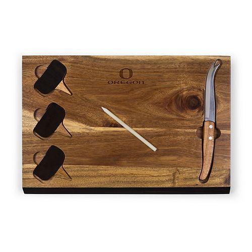 Picnic Time Oregon Ducks Delio Cheese Cutting Board Set