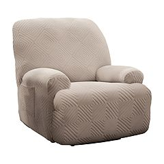 Jeffrey Home Stretch Shapely Diamond Jumbo Recliner Slipcover Furniture Cover