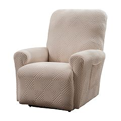 Jeffrey Home Stretch Shapely Diamond Recliner Slipcover Furniture Cover