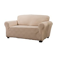 Jeffrey Home Stretch Shapely Diamond Sofa Slipcover Furniture Cover