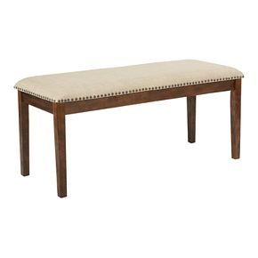 OSP Designs Langston Upholstered Faux-Leather Bench