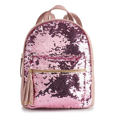 5c9423d4436089 OMG Accessories Flip Sequin Mini Backpack