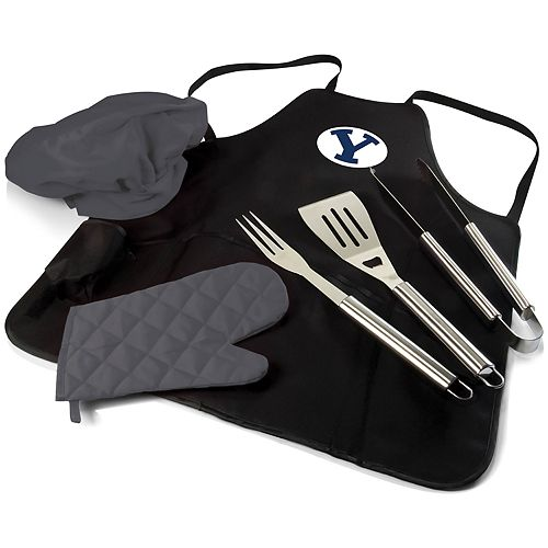 Picnic Time BYU Cougars BBQ Apron Pro Grill Set