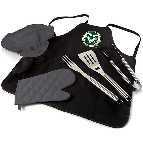 Picnic Time Colorado State Rams BBQ Apron Pro Grill Set