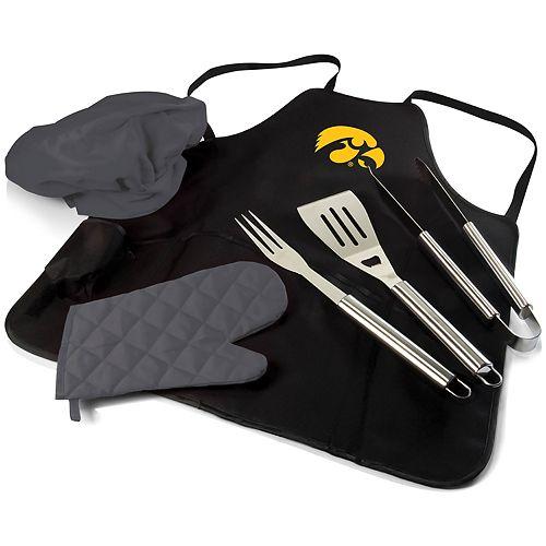 Picnic Time Iowa Hawkeyes BBQ Apron Pro Grill Set