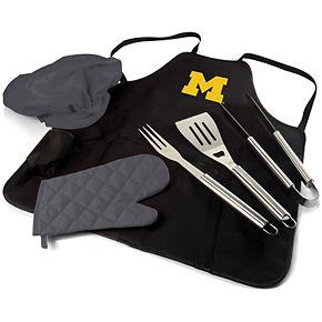 Picnic Time Michigan Wolverines BBQ Apron Pro Grill Set