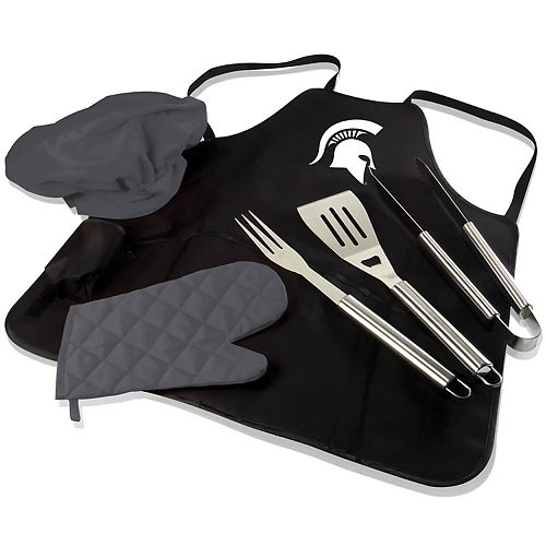 Picnic Time Michigan State Spartans BBQ Apron Pro Grill Set