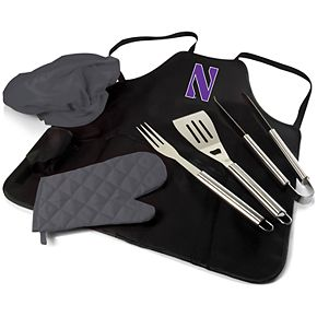 Picnic Time Northwestern Wildcats BBQ Apron Pro Grill Set