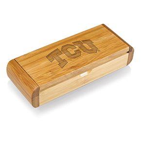TCU Horned Frogs Elan Deluxe Corkscrew Bottle Opener with Case