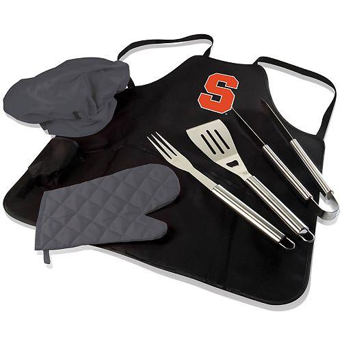 Picnic Time Syracuse Orange BBQ Apron Pro Grill Set
