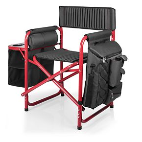 Picnic Time Wisconsin Badgers Fusion Backpack Chair with Cooler