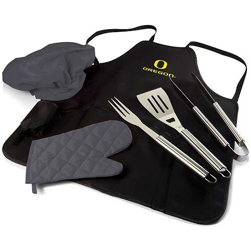 Picnic Time Oregon Ducks BBQ Apron Pro Grill Set