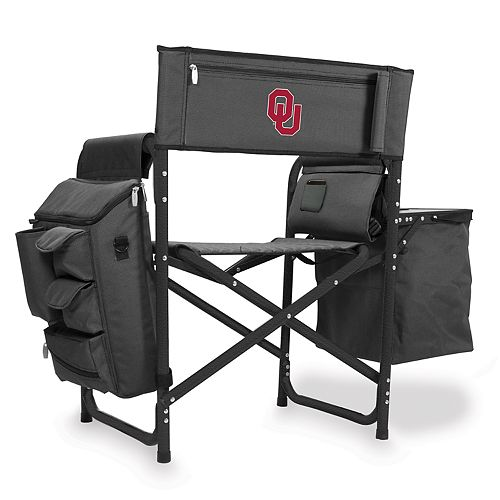 Picnic Time Oklahoma Sooners Fusion Backpack Chair with Cooler