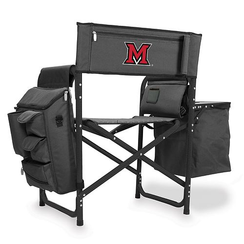 Picnic Time Miami RedHawks Fusion Backpack Chair with Cooler