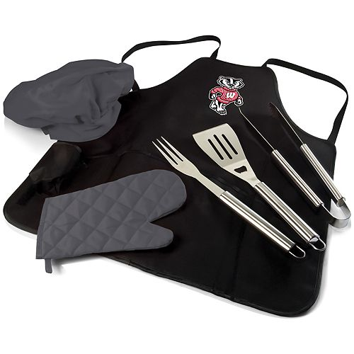 Picnic Time Wisconsin Badgers BBQ Apron Pro Grill Set