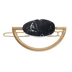 18 BIRCH MRKT Gold Tone Stone Detail Hair Barrette
