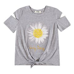 Girls 7-16 Speechless Knot Front Tee