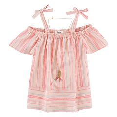 Girls 7-16 Speechless Off-the-Shoulder Striped Top