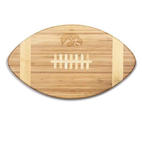 Iowa Hawkeyes Touchdown Football Cutting Board Serving Tray