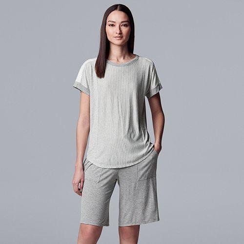 Women's Simply Vera Vera Wang Top & Bermuda Shorts Pajama Set
