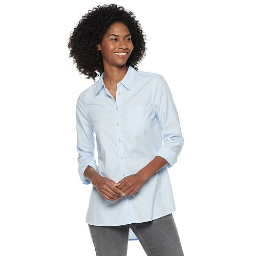 Petites' SONOMA Goods for Life™ Essential Poplin Shirt