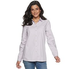 Petites' SONOMA Goods for Life™ Essential Poplin Shirt