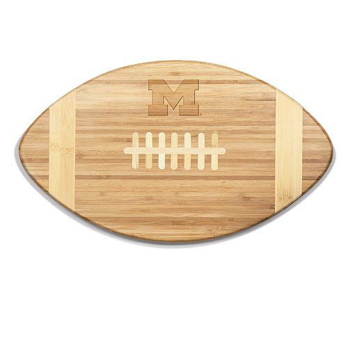 Michigan Wolverines Touchdown Football Cutting Board Serving Tray