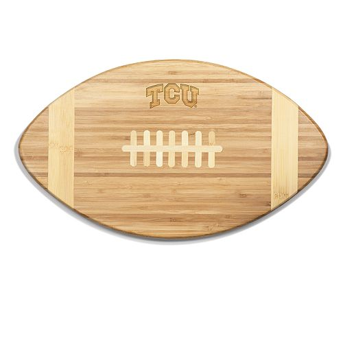 TCU Horned Frogs Touchdown Football Cutting Board Serving Tray