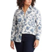 Plus Size Chaps Print No-Iron Shirt