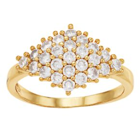 LC Lauren Conrad Gold Tone Simulated Stone Pave Ring