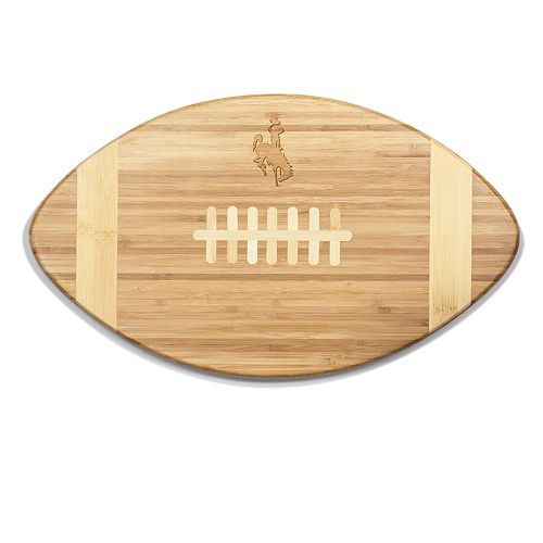Wyoming Cowboys Touchdown Football Cutting Board Serving Tray