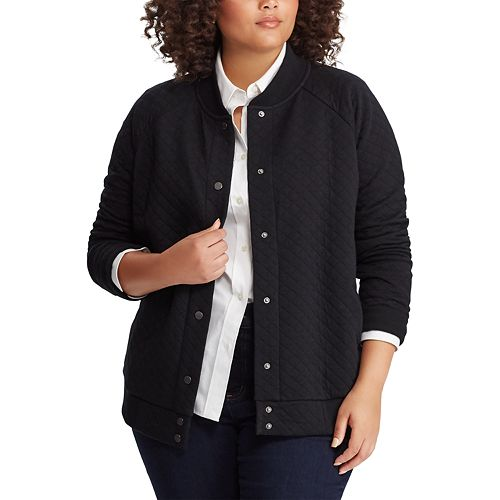Plus Size Chaps Quilted Jacket