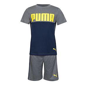 Boys 4-7 PUMA Colorblock Tee & Shorts Set