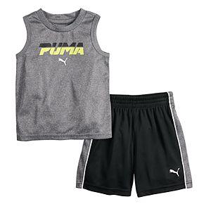 Boys 4-7 PUMA Performance Muscle Tee & Shorts Set