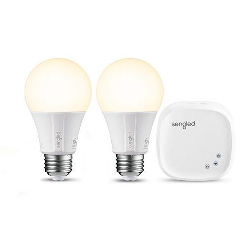 Sengled Element Classic Smart LED A19 Dimmable Soft White 60W Equivalent Light Bulb Starter Kit