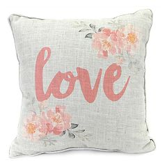 Jordan Manufacturing Love Print Throw Pillow