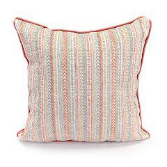 Jordan Manufacturing Chenille Stripe Throw Pillow